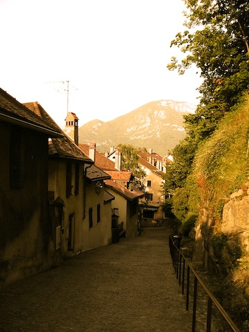 A Street in Annecy, photo by Kathe Lison