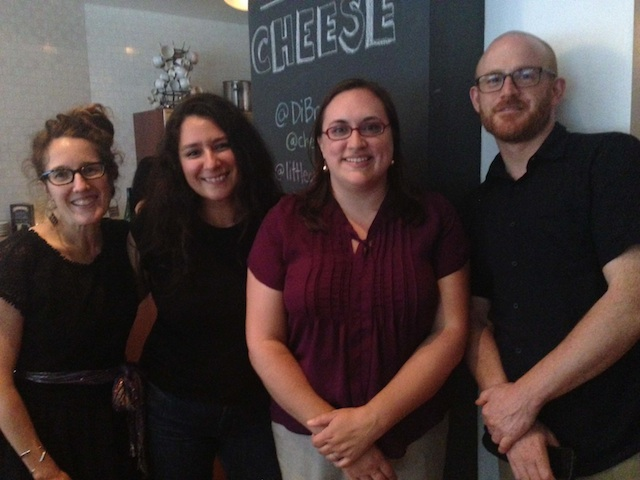 Fellow Cheese Bloggers: Madame F. with Christine of Cognitive Leeks, Colleen of Cheese and Champagne, Matt of Cheese Notes