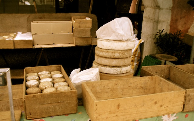 Market cheese in Annecy, photo by Kathe Lison