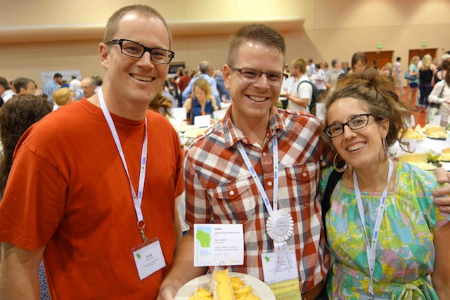 Chad Hayes of Zingerman's (L), Brian Schlatter of Canal Junction Cheese, and moi