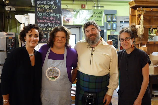 L to R: Phoebe Canakis, Elizabeth Stoudt with husband Matt, Madame Fromage
