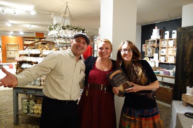 Emilio, Jessica, and MF at Anthropologie
