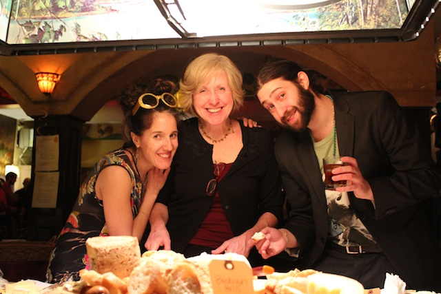 Cheesemaker Sue Miller flanked by Yours Truly and Cheesemonger Matt Buddha