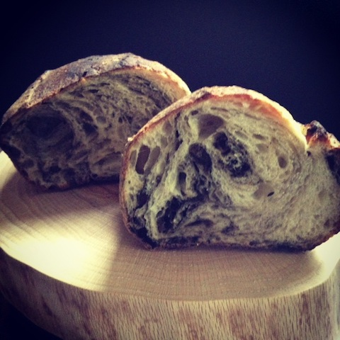 Vegetable Ash Bread -- the same ash used in cheesemaking
