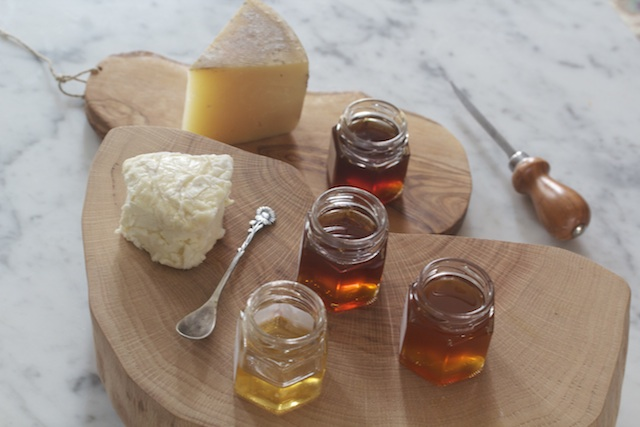 Cheese and Honey sampler