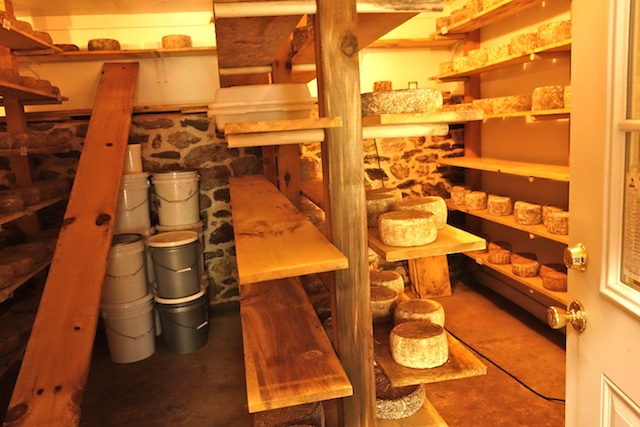 The cheese cave at Meadowset