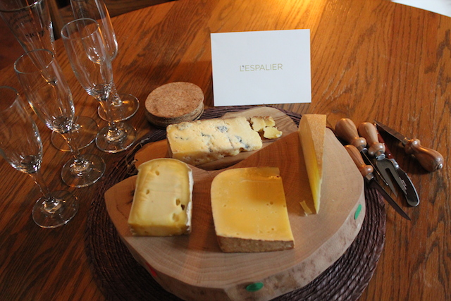 L'Espalier Cheese Board on Table