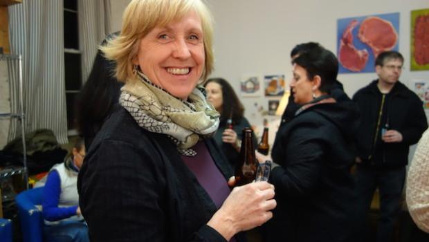 Sue Miller at her Kickstarter Party