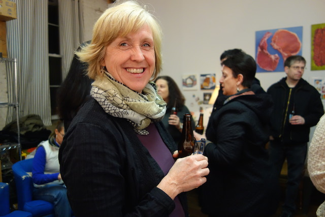 Sue Miller at her Kickstarter Party