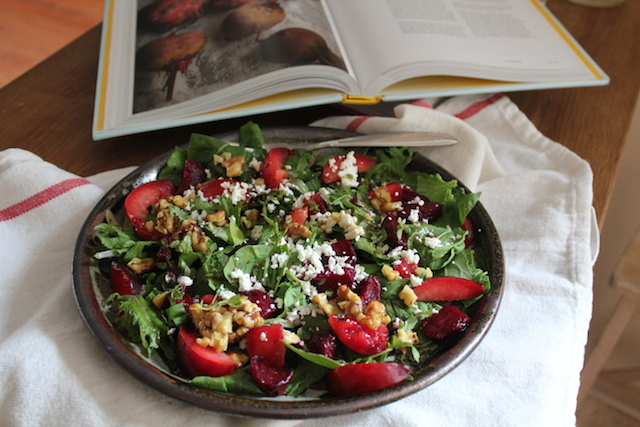Beet Plum Goat Cheese Salad II