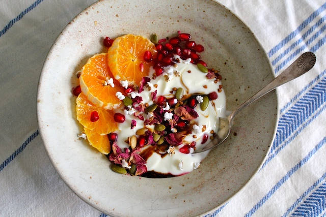 Yogurt Bowl with Pomegranate