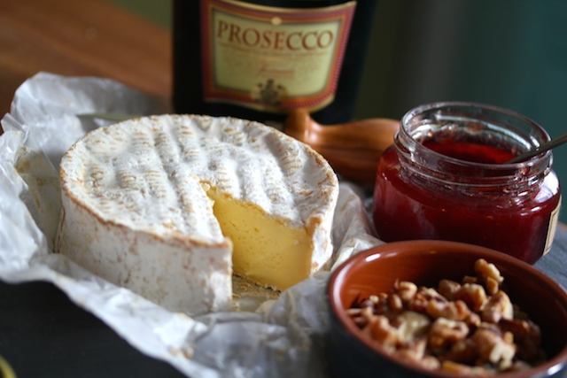 Camembert and Prosecco