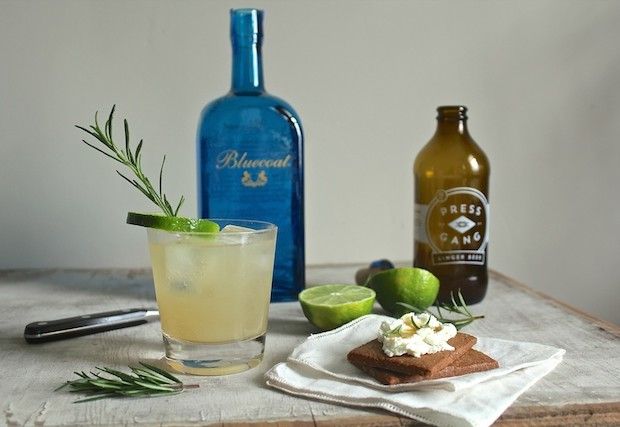 Greensgrow Mule with Bluecoat and Press Gang Ginger Beer