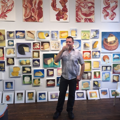 Mike Geno in his Studio