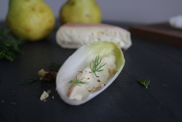 Ouleout and Endive with Walnut and Dill