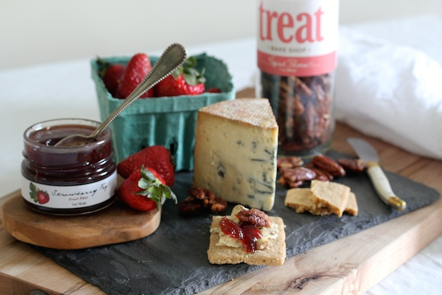Blue Cheese with Effies Oatcakes and Strawberry Fig Pate