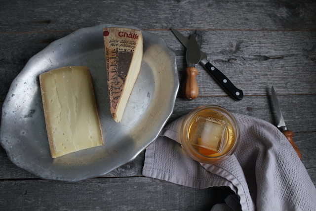 Old Fashioned Cocktail and Alpine Cheeses
