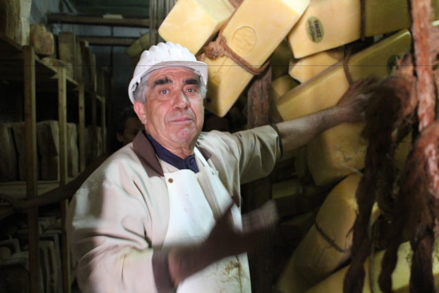 Angelo Dipasquale in his Cheese Cave