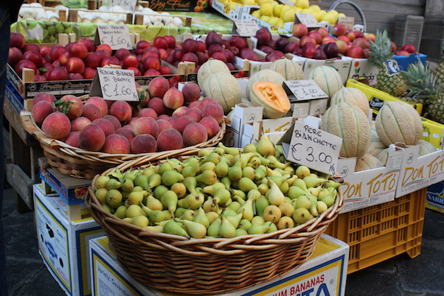 Produce Market in Catania with Pears