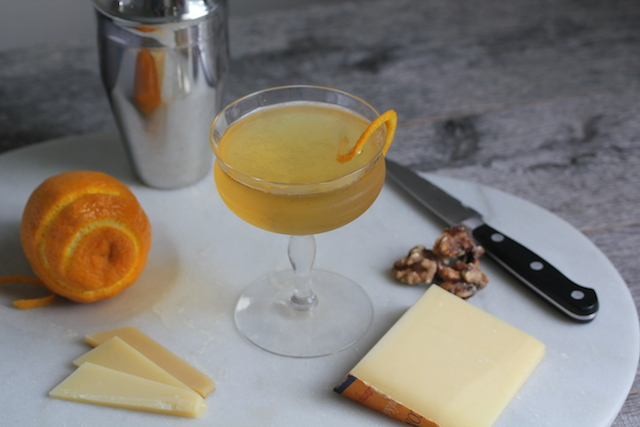 Comte Cheese and Ritz Cocktail